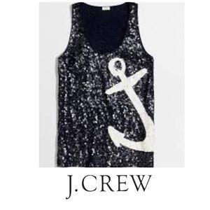 J. Crew Nautical Sequin Tank